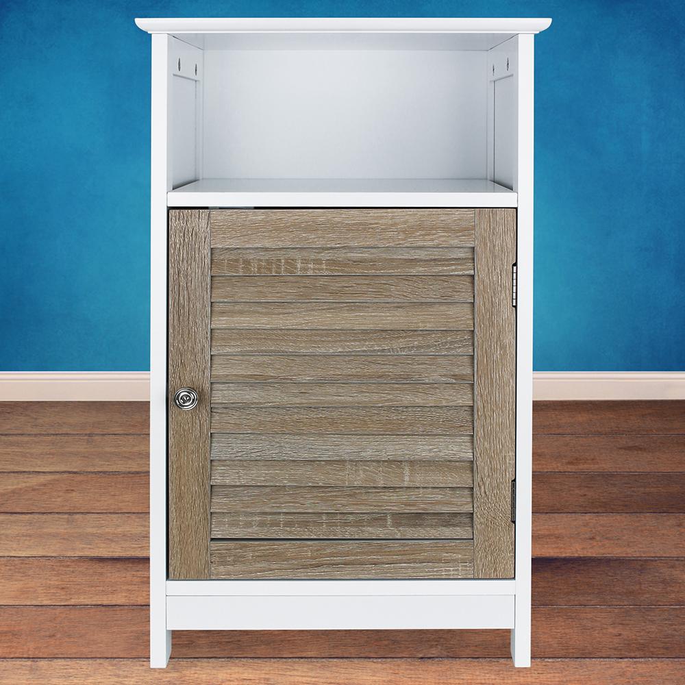 schrank mit 3 f cher und t r holz. Black Bedroom Furniture Sets. Home Design Ideas