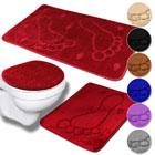 Badezimmer-Set 3tlg Mono Fuß - Farbauswahl
