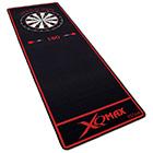 Dartmatte rot/schwarz 237x80cm