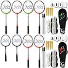 Badminton Schläger und Ball und Netz Set mit Modellauswahl