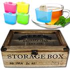 Teekiste 6 Fächer Storage Box inkl. Teebeutel-Halter