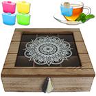 Teebox 9 Fächer Oriental inkl. Teebeutel-Halter