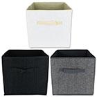 Aufbewahrungsboxen 3er Set schwarz/weiß/grau