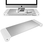 Monitorständer Alu mit USB-Anschlüssen