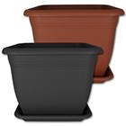 Pflanzkübel oder Untersetzer eckig mit Farb- und Größenauswahl NEU