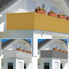 Balkonsichtschutz groß 600x90cm mit Farbauswahl