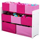 Aufbewahrungsregal mit 9 Boxen pink