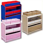 Aufbewahrungsregal 6 Boxen mit Farbauswahl