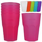Mehrweg Cocktailgläser 6 Stück mit Farbauswahl