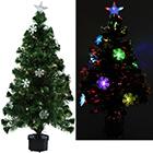 Weihnachtsbaum mit Schneeflocken mit Größenauswahl