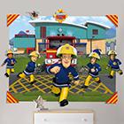 3D Wanddekoration Fireman Sam
