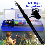 51tlg. Kinder-Angelset mit Box