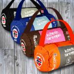 Sporttasche Norwegian mit Farbauswahl blau, schwarz, braun, orange