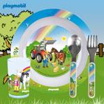 playmobil® Geschirr-Set Teller, Trinkglas, Löffe u.Gabel