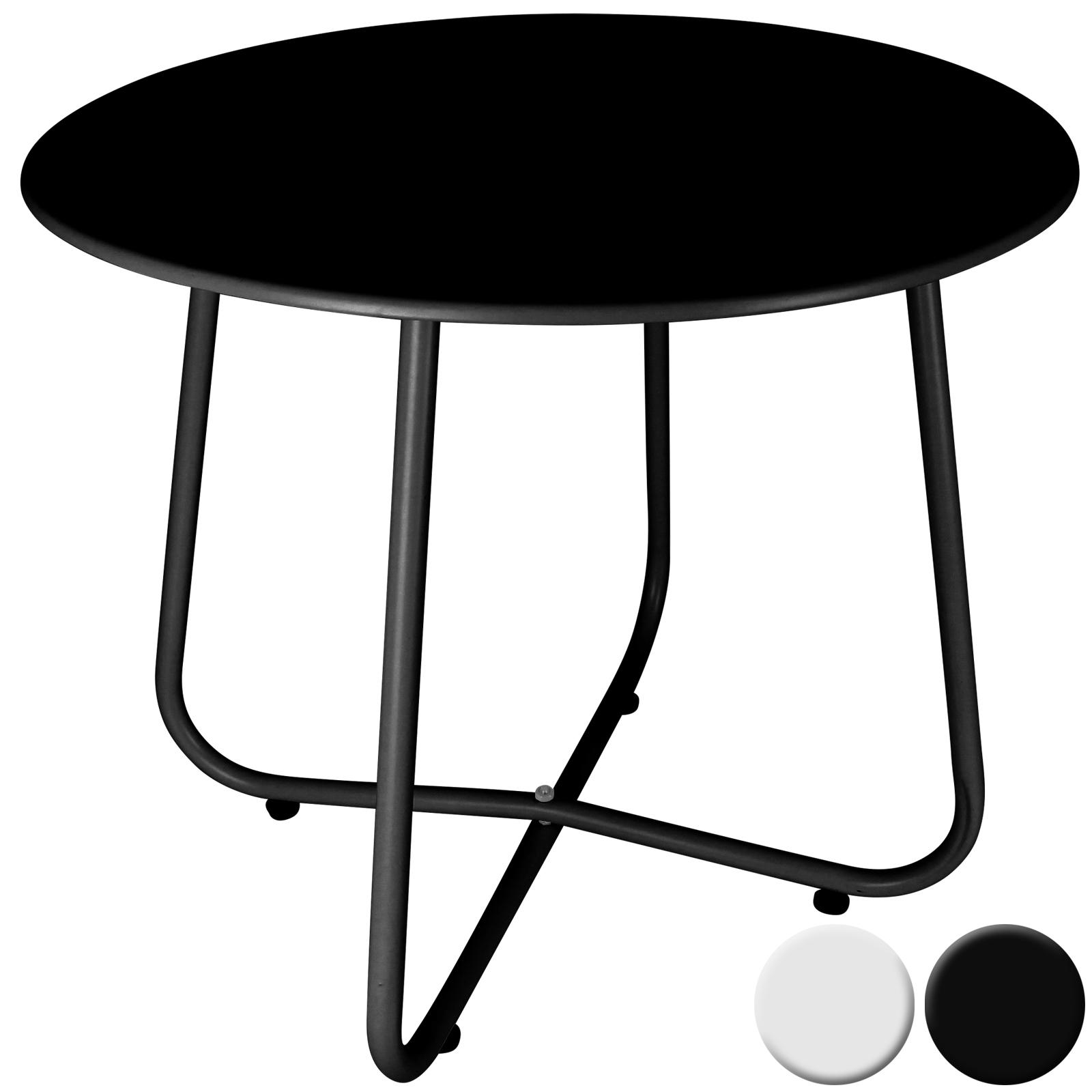 beistelltisch couchtisch wohnzimmertisch gartentisch balkontisch tisch rund 50cm ebay. Black Bedroom Furniture Sets. Home Design Ideas