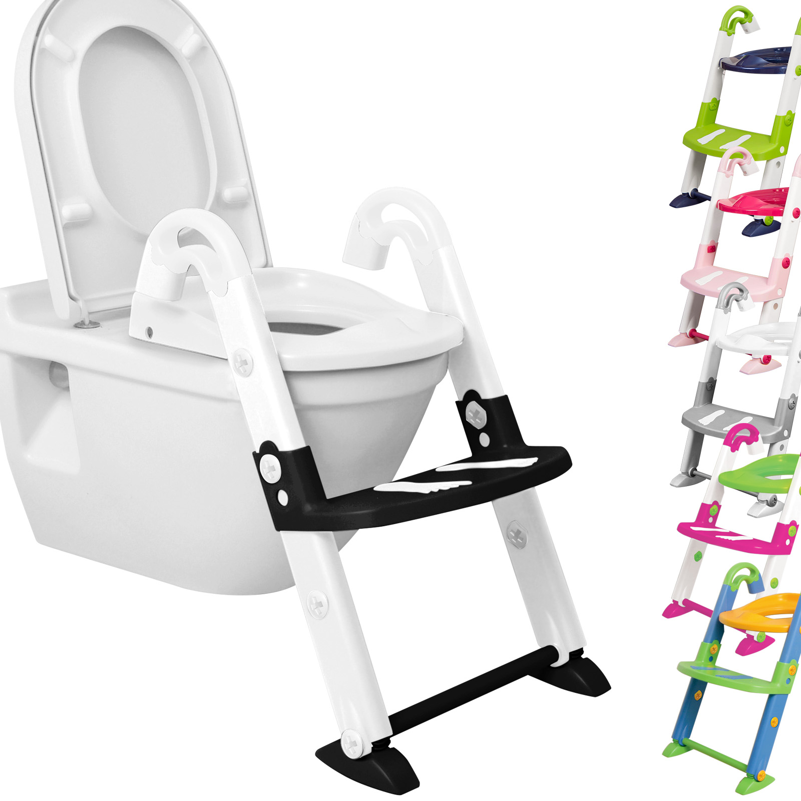 kidskit 3in1 toilettentrainer kinder wc sitz toilettensitz. Black Bedroom Furniture Sets. Home Design Ideas
