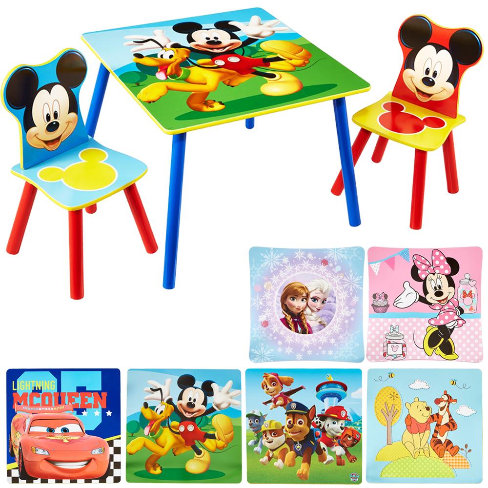 Tw24 Disney Mickey Mouse Kinder Tisch Mit 2 Stuhlen Sitzmobel Set Ebay