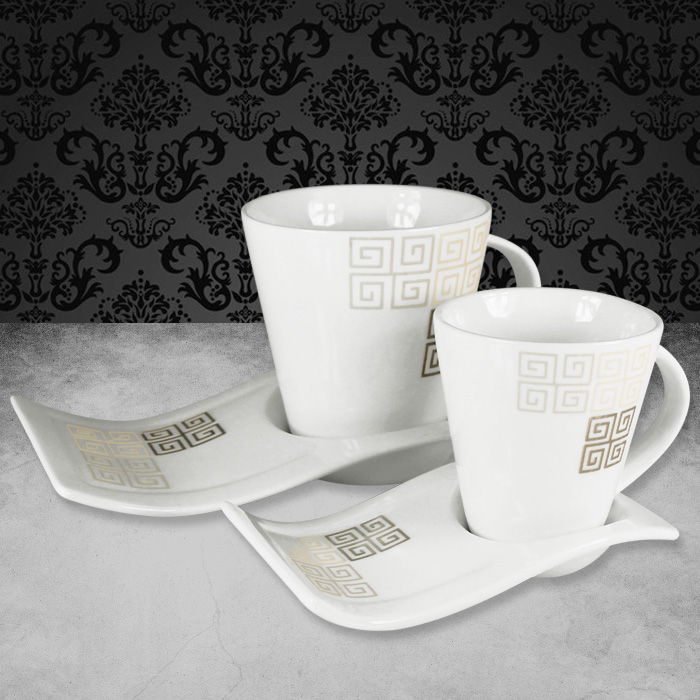 12tlg kaffeetassen moccatassen set kaffeeservice service kaffee geschirr tassen ebay. Black Bedroom Furniture Sets. Home Design Ideas