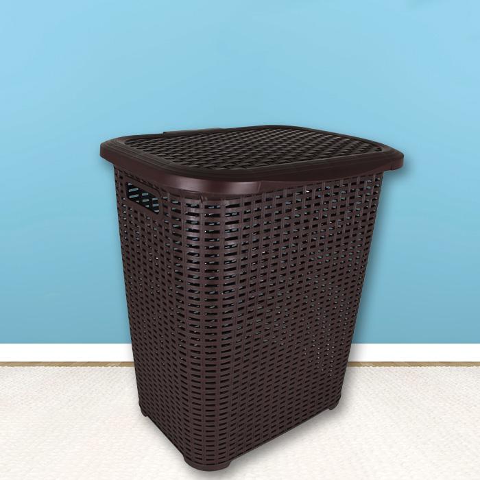 w schekorb rattan optik w schewanne w schebox w schetruhe box korb deckel 45l ebay. Black Bedroom Furniture Sets. Home Design Ideas