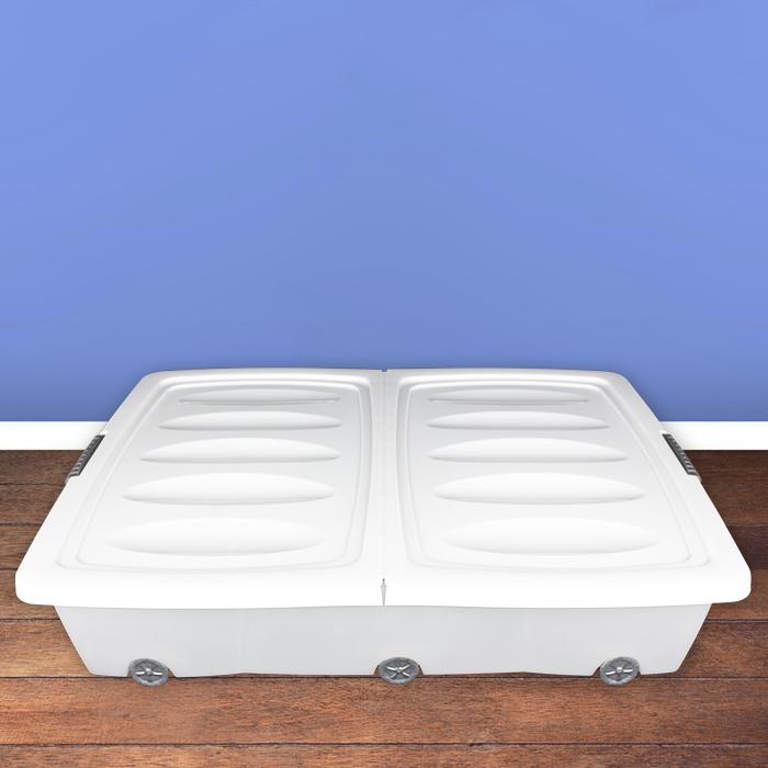 xxl unterbettkommode rollen unterbettbox plastikbox truhe. Black Bedroom Furniture Sets. Home Design Ideas