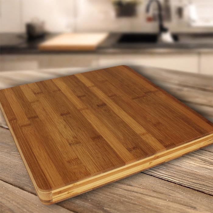 xl schneidebrett tranchierbrett schneidbrett k chenbrett bambus massiv holz neu ebay. Black Bedroom Furniture Sets. Home Design Ideas