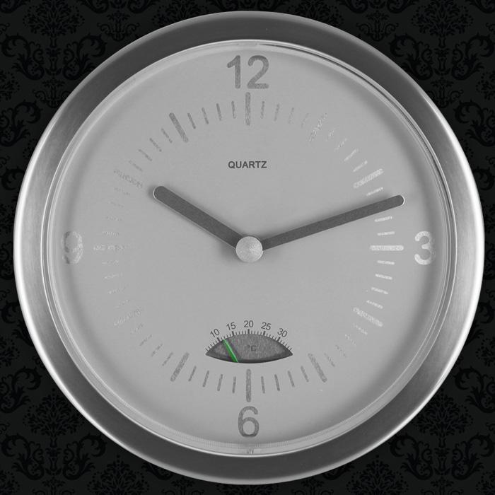 wanduhr thermometer baduhr badezimmeruhr uhr saugnapf k chenuhr analog quartz ebay. Black Bedroom Furniture Sets. Home Design Ideas