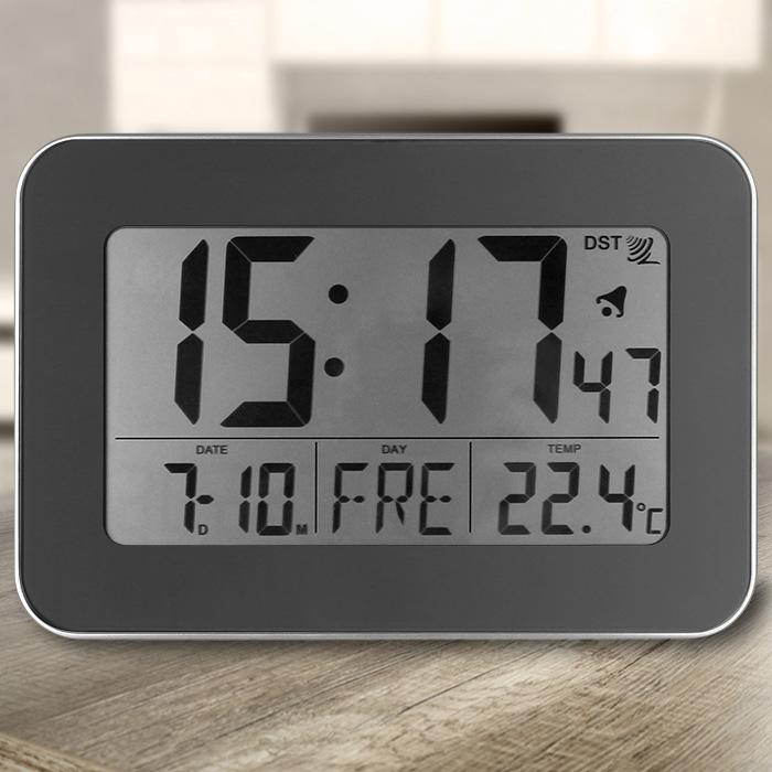 Digital Funkwanduhr Funkuhr Tischuhr Funk Uhr LCD Display