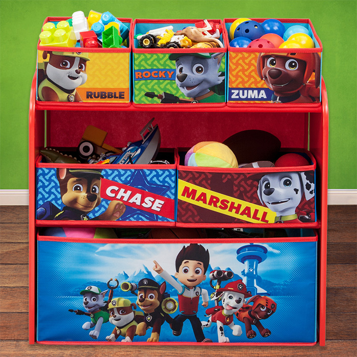 paw patrol kinderregal spielzeugkiste spielzeugbox kinderm bel kinder regal neu ebay. Black Bedroom Furniture Sets. Home Design Ideas