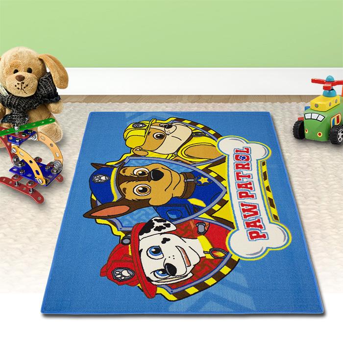 133x95cm paw patrol kinderteppich spielteppich kinder blau teppich kinderzimmer 4250913152181 ebay. Black Bedroom Furniture Sets. Home Design Ideas