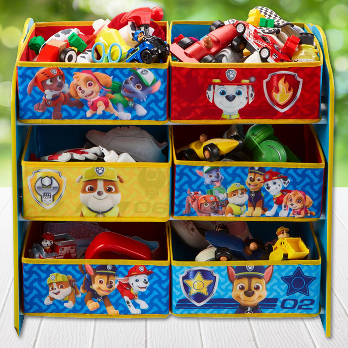 paw patrol kinderregal regal kiste kinder kinderm bel m bel aufbewahrungsregal ebay. Black Bedroom Furniture Sets. Home Design Ideas