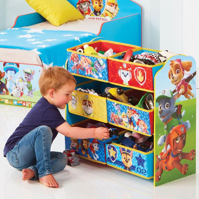 paw patrol kinderregal regal kiste kinder kinderm bel m bel aufbewahrungsregal ebay. Black Bedroom Furniture Sets. Home Design Ideas