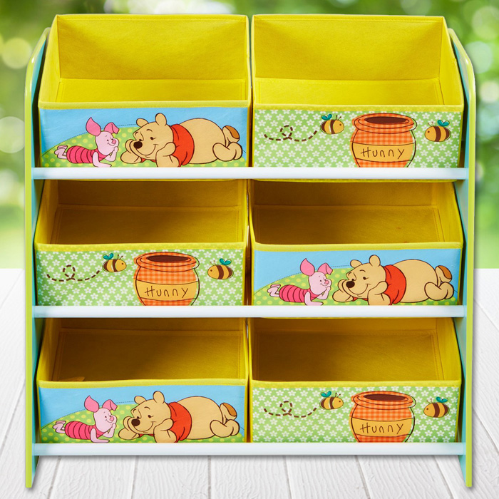 kinderregal disney winnie regal aufbewahrung kinder kinderm bel spielzeugkiste ebay. Black Bedroom Furniture Sets. Home Design Ideas