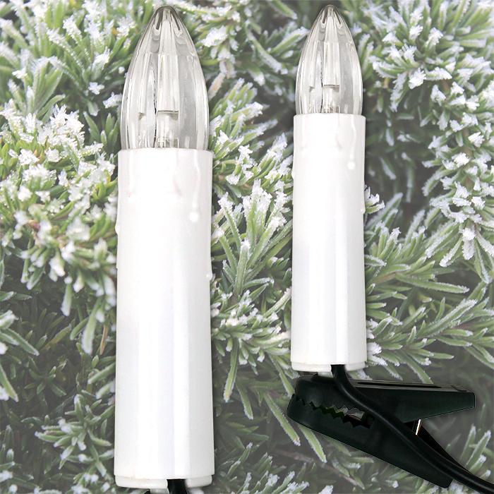 lichterkette weihnachtskerzen beleuchtung weihnachten warmwei led 10 kerzen neu ebay. Black Bedroom Furniture Sets. Home Design Ideas