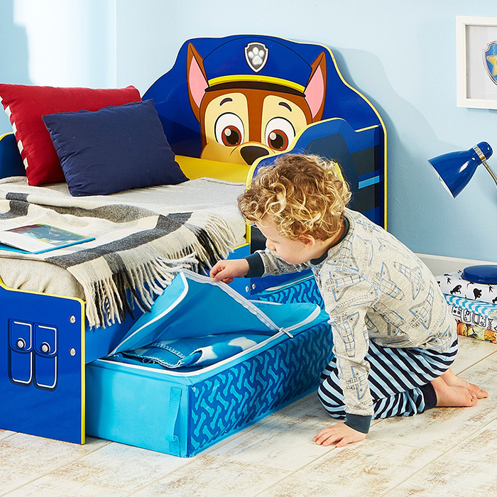 kinderbett schubladen paw patrol jugendbett juniorbett holz bett blau 140x70cm ebay. Black Bedroom Furniture Sets. Home Design Ideas