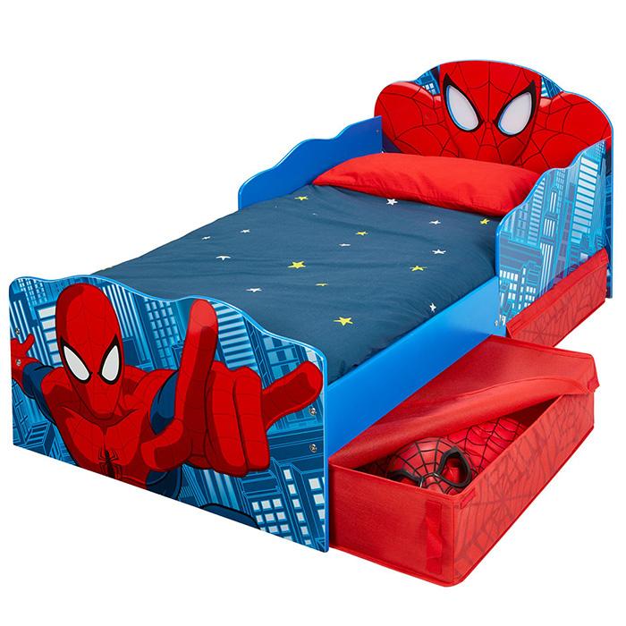 kinderbett schubladen spider man 140x70cm jugendbett juniorbett holz blau rot ebay. Black Bedroom Furniture Sets. Home Design Ideas