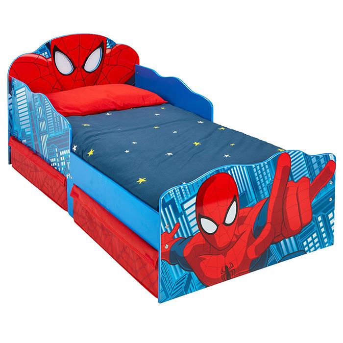 kinderbett schubladen spider man 140x70cm jugendbett. Black Bedroom Furniture Sets. Home Design Ideas