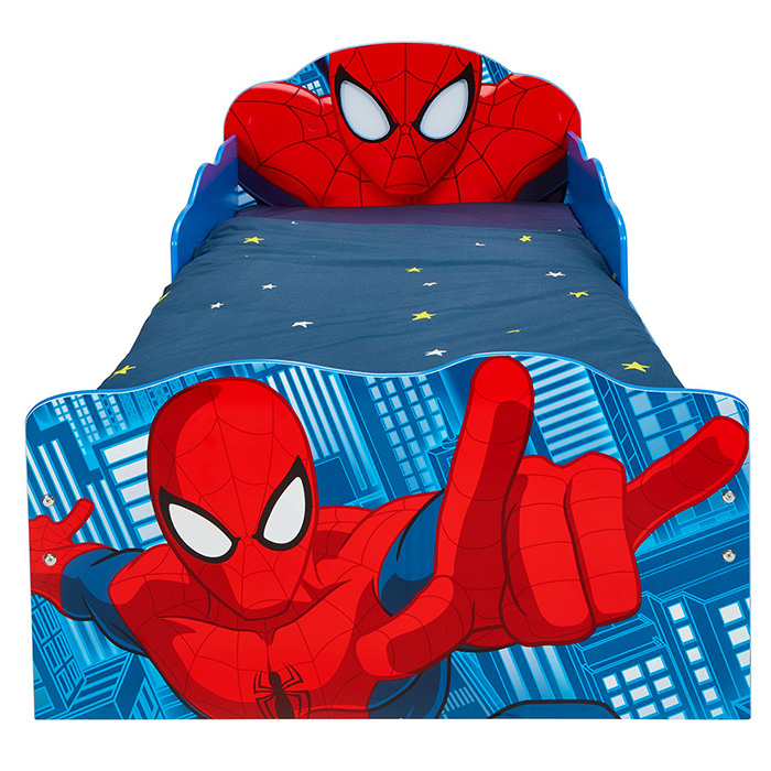 kinderbett schubladen spider man 140x70cm jugendbett juniorbett holz blau rot ebay. Black Bedroom Furniture Sets. Home Design Ideas