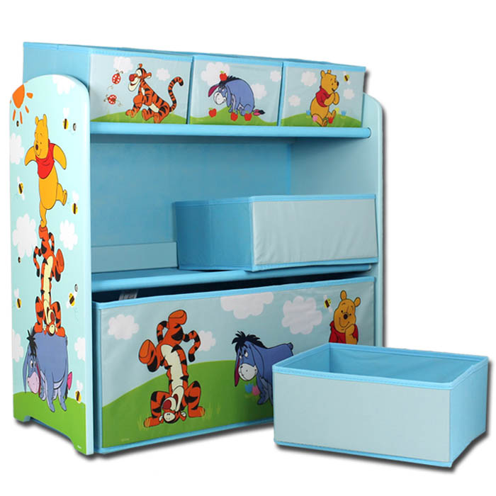 aufbewahrungsbox disney winnie the pooh spielzeugkiste spielzeugbox kinder regal ebay. Black Bedroom Furniture Sets. Home Design Ideas