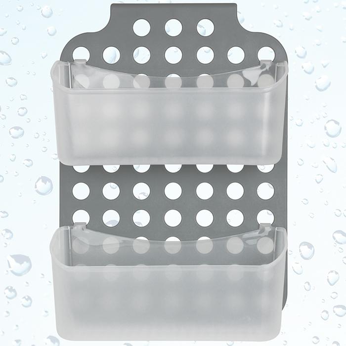 Badezimmer Regal Hängend: Duschhängeregal Fensterwischer Duschkorb Wandregal