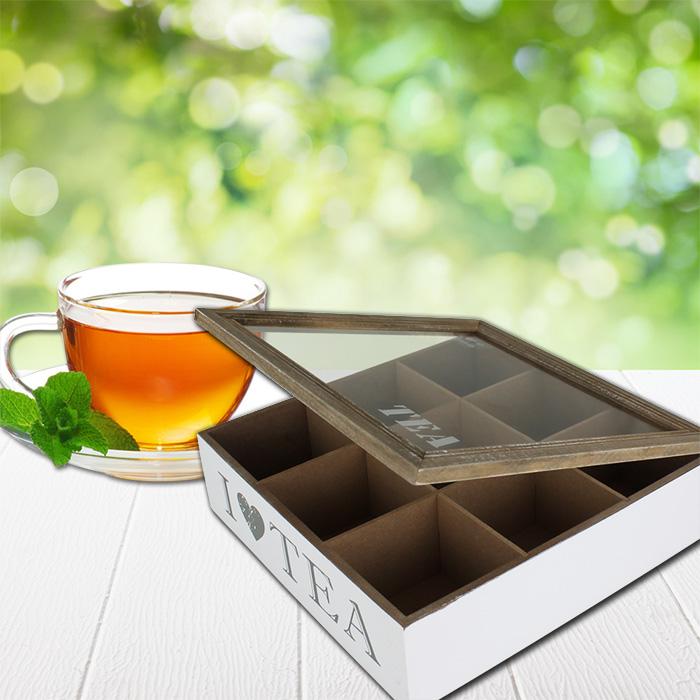 xxl 9 f cher teekiste teebox teebeutelbox teebeutel tee kiste aufbewahrung holz 4250913139731 ebay. Black Bedroom Furniture Sets. Home Design Ideas
