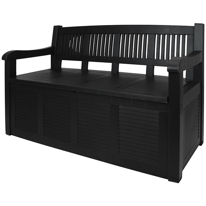 bank 280l stauraum sitzbank gartenbank kissentruhe. Black Bedroom Furniture Sets. Home Design Ideas