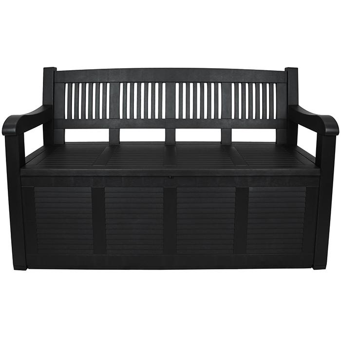 bank 280l stauraum sitzbank gartenbank kissentruhe truhenbank ablagebox garten ebay. Black Bedroom Furniture Sets. Home Design Ideas
