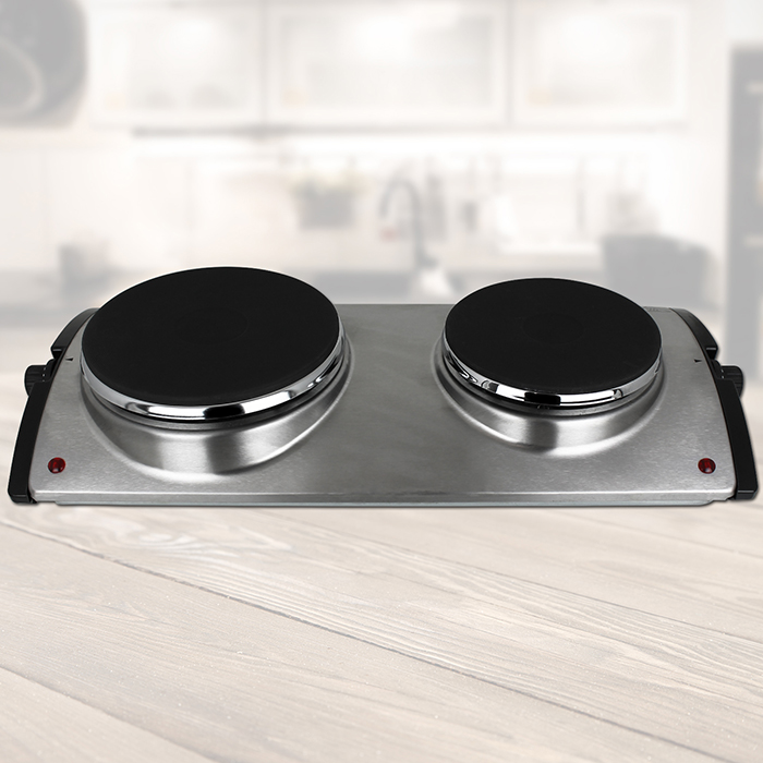 doppelkochplatte kochplatte edelstahl elektro herdplatte. Black Bedroom Furniture Sets. Home Design Ideas