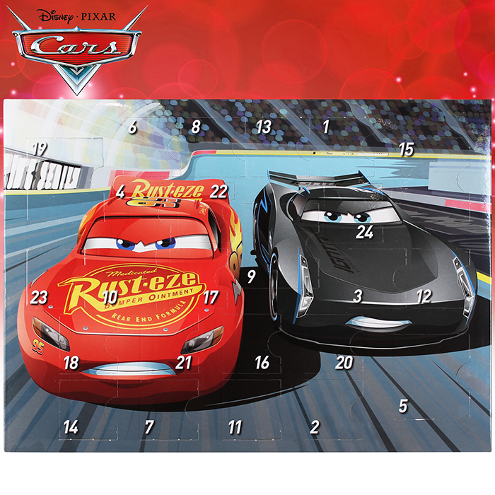 Disney Cars Adventskalender Weihnachtskalender Kalender Kinder Auto Gefüllt NEU