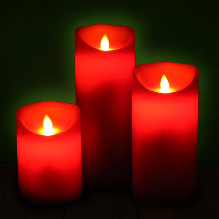 led kerze echtwachs flammenlose wachskerze timer deko kerzen rot in 3 gr en neu ebay. Black Bedroom Furniture Sets. Home Design Ideas
