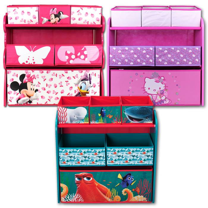 disney spielzeugkiste spielzeugtruhe kinderm bel kinderregal regal aufbewahrung ebay. Black Bedroom Furniture Sets. Home Design Ideas