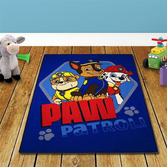 133x95cm paw patrol spielteppich kinderteppich kinder teppich kinderzimmer blau ebay. Black Bedroom Furniture Sets. Home Design Ideas