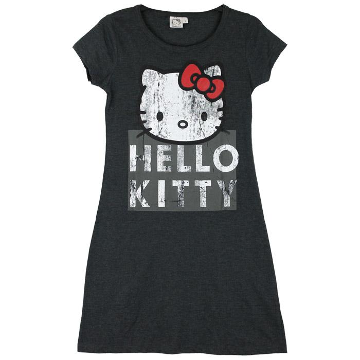 Nachthemd Damen Hello Kitty Pyjama Sleepshirt Nachtkleid Nachtwäsche ...