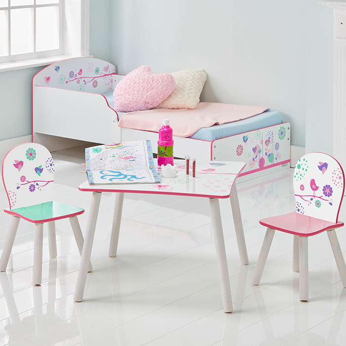 sitzgruppe kinder kindersitzgruppe kinderst hle kindertisch m bel m dchen rosa ebay. Black Bedroom Furniture Sets. Home Design Ideas