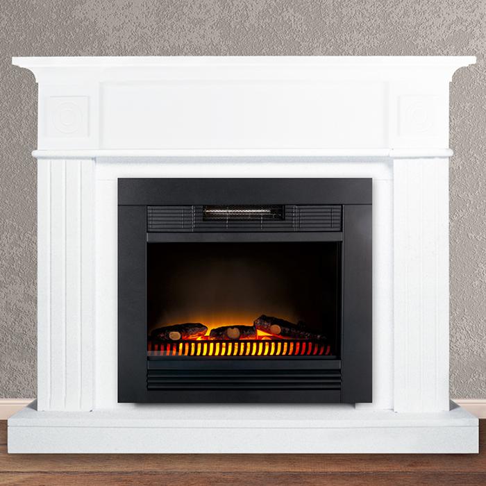 elektrischer kaminofen kaminumrandung kamin elektro heizung led kaminfeuer wei ebay. Black Bedroom Furniture Sets. Home Design Ideas
